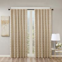 SunSmart Cassius 95-Inch Rod Pocket/Back Tabs Total Blackout Window Curtain Panel in Gold