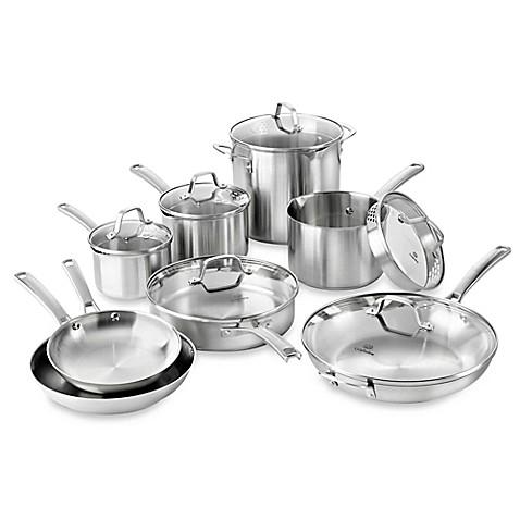 Calphalon 174 Classic Stainless Steel 14 Piece Cookware Set