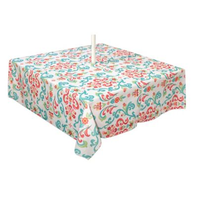 Odesa 60 Inch X 120 Inch Indoor/Outdoor Tablecloth With Umbrella Hole
