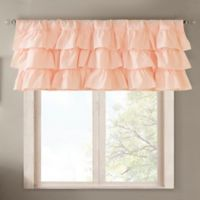 Madison Park Anna Oversized Ruffle Window Valance in Pink