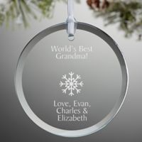 Create Your Own Round Christmas Ornament