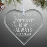 Love Quotes Heart Christmas Ornament