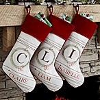Holiday Wreath Christmas Stocking