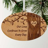 Carved In Love Personalized Christmas Ornament
