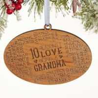 Reasons Why For Her Christmas Wood Ornament in Brown