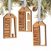 All About Family Gift Tag Christmas Ornament