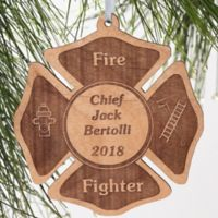 Firefighter Engraved Christmas Ornament