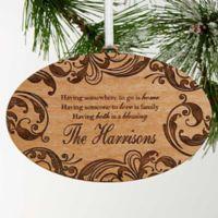 Family Blessings Christmas Ornament
