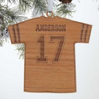 Football Jersey Wood Christmas Ornament
