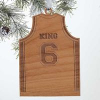 Basketball Jersey Wood Christmas Ornament
