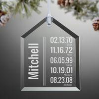 Milestone Dates Family Christmas Ornament