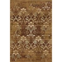 KAS Heritage Damask 3-Foot 3-Inch x 4-Foot 11-Inch Accent Rug in Olive