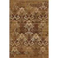 KAS Heritage Damask 7-Foot 7-Inch x 7-Foot 10-Inch Area Rug in Olive