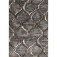 KAS Landscapes Groove 5-Foot 3-Inch x 7-Foot 7-Inch Area Rug in Charcoal