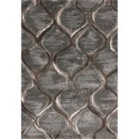 KAS Landscapes Groove 7-Foot 10-Inch x 10-Foot 10-Inch Area Rug in Charcoal
