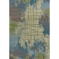 KAS Illusions Visions 7-Foot 10-Inch x 10-Foot 10-Inch Area Rug in Green/Blue