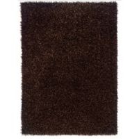 Linon Home Confetti 1-Foot 10-Inch x 2-Foot 10-Inch Accent Rug in Brown