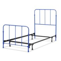 Fashion Bed Group Nolan Full Metal Kids Bed in Cobalt Blue