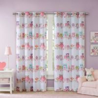 Mi Zone Kids Wise Wendy Owl 63-Inch Room Darkening Grommet Window Curtain Panel in Pink
