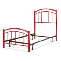 Fashion Bed Group Rylan Complete Full Kids Bed in Red