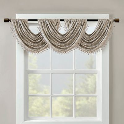 sunsmart cassius jacquard window valance in charcoal