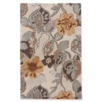 Jaipur Blue Collection Floral 9-Foot x 12-Foot Area Rug in Ivory/Yellow