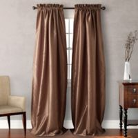 Heritage Landing Rod Pocket 108-Inch Window Curtain Panel Pair in Taupe