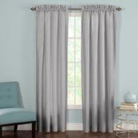 Heritage Landing Rod Pocket 84-Inch Window Curtain Panel Pair in Silver