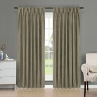 Brielle Fortune 95-Inch Back Tab Room Darkening Window Curtain Panel in Khaki