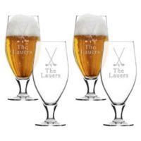 Carved Solutions Golf Cervoise Glasses (Set of 4)
