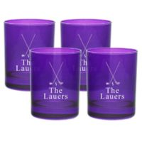 Carved Solutions Golf Double Old Fashioned Glasses in Amethyst (Set of 4)