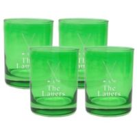 Carved Solutions Golf Double Old Fashioned Glasses in Emerald (Set of 4)