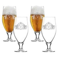Carved Solutions Griffin Cervoise Glasses (Set of 4)