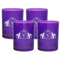Carved Solutions Griffin Double Old Fashioned Glasses in Amethyst (Set of 4)