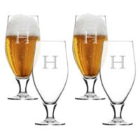 Carved Solutions Cervoise Glasses (Set of 4)