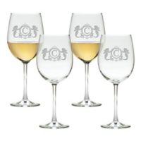 Carved Solutions Mermaid Tulip Wine Glasses (Set of 4)