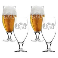 Carved Solutions Mermaid Cervoise Glasses (Set of 4)