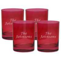 Carved Solutions Multi Name Old-Fashioned Glasses in Ruby (Set of 4)