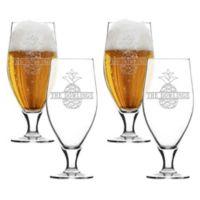 Carved Solutions Split Pineapple Cervoise Glasses (Set of 4)