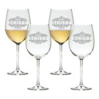 Carved Solutions Scott Tulip Wine Glasses (Set of 4)