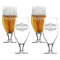 Carved Solutions Scott Cervoise Glasses (Set of 4)