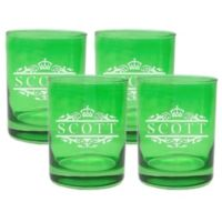 Carved Solutions Scott Double Old Fashioned Glasses in Emerald (Set of 4)