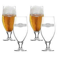 Carved Solutions Sports Food Cervoise Glasses (Set of 4)