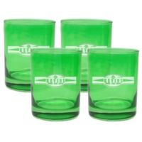 Carved Solutions Sports Food Double Old Fashioned Glasses in Emerald (Set of 4)