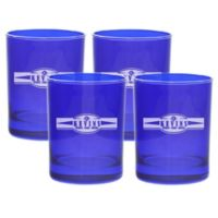 Carved Solutions Sports Food Double Old Fashioned Glasses in Sapphire (Set of 4)