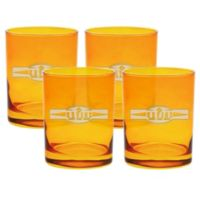 Carved Solutions Sports Food Double Old Fashioned Glasses in Topaz (Set of 4)