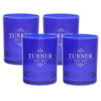 Carved Solutions Turner Double Old Fashioned Glasses in Sapphire (Set of 4)