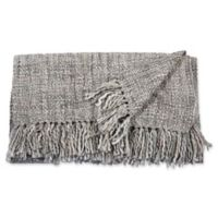 Mina Victory by Nourison Basket Weave Throw Blanket in Grey