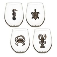 Table Art Nautica Stemless Wine Glasses (Set of 4)