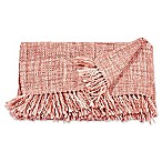 Mina Victory by Nourison Basket Weave Throw Blanket in Rose